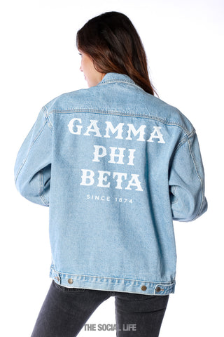 Gamma Phi Beta Classic Denim Jacket