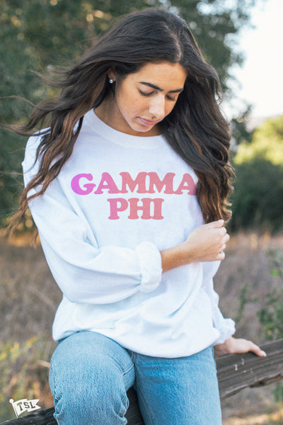 Gamma Phi Beta Gradient Crewneck