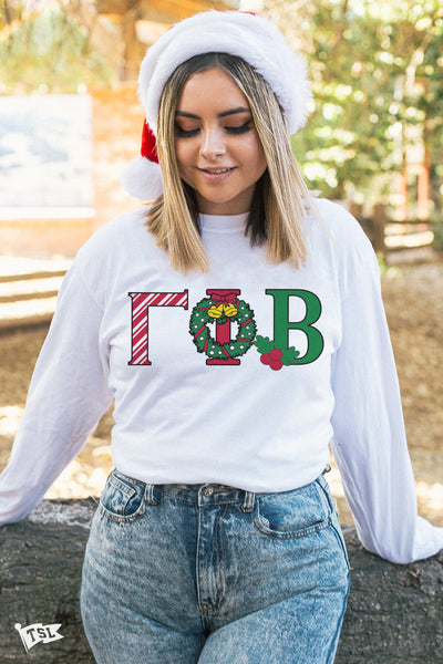 Gamma Phi Beta Holiday Letter Long Sleeve