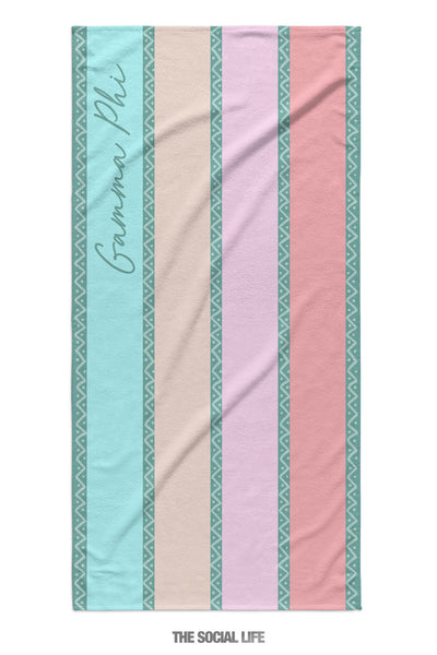 Gamma Phi Beta Island Stripe Towel