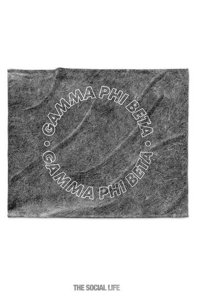 Gamma Phi Beta Mineral Wash Blanket