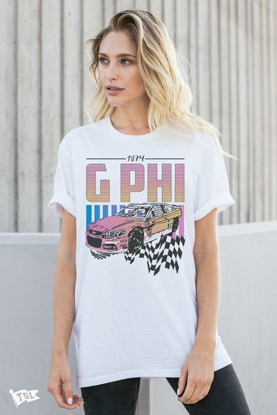 Gamma Phi Beta Racing Tee
