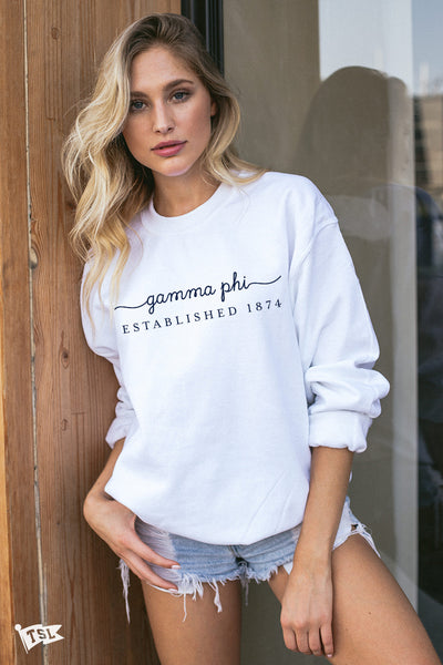 Gamma Phi Beta Signature Crewneck