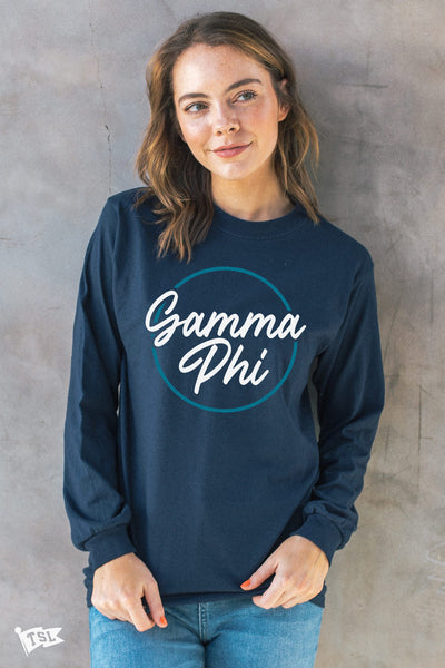 Gamma Phi Beta Stamp Long Sleeve