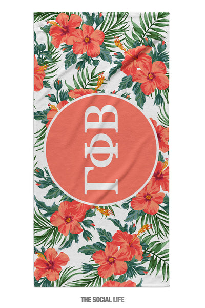 Gamma Phi Beta Tropic Towel