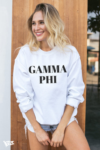 Gamma Phi Beta Vogue Crewneck