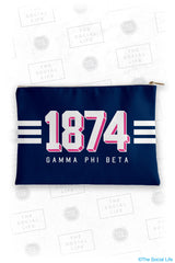 Gamma Phi Beta Varsity Cosmetic Bag
