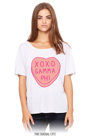 Gamma Phi Beta Candy Heart Tee