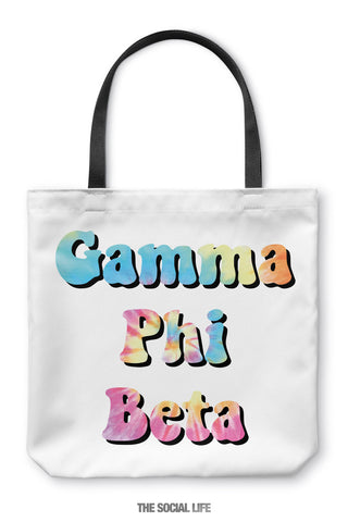 Gamma Phi Beta Hippie Tote Bag