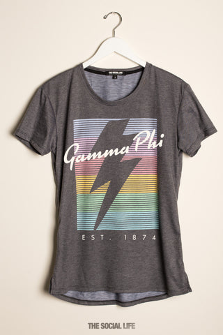 Gamma Phi Beta RainBolt Scoop Tee