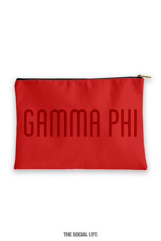 Gamma Phi Beta Primary Cosmetic Pouch