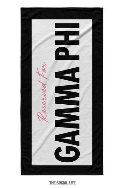 Gamma Phi Beta Reserved Towel