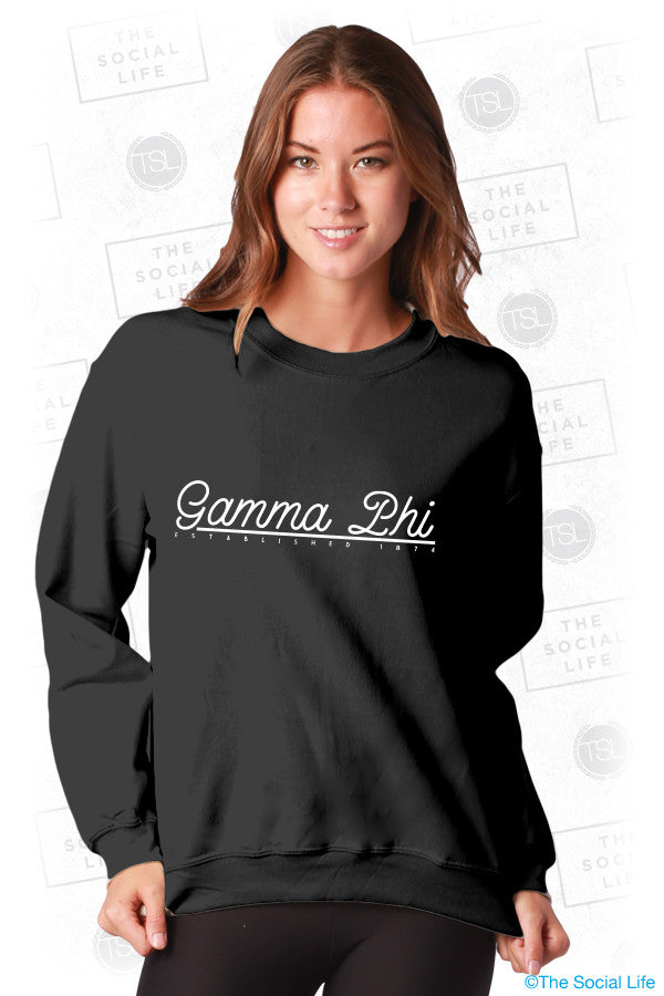 Gamma Phi Beta Retro Crewneck