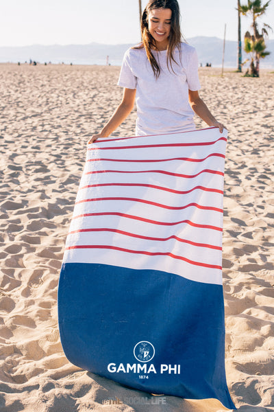Gamma Phi Beta Sailor Striped Towel
