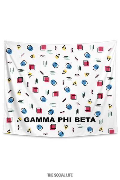 Gamma Phi Beta Squigglies Tapestry