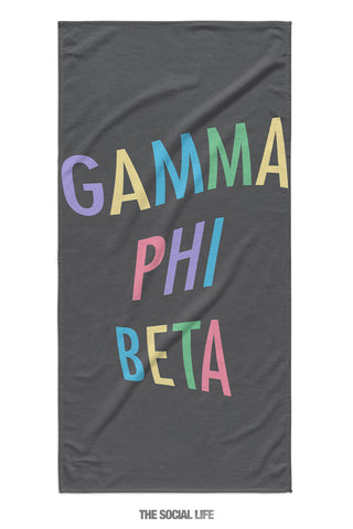 Gamma Phi Beta Turnt Towel
