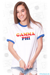 Gamma Phi Beta Good Vibes Ringer Tee