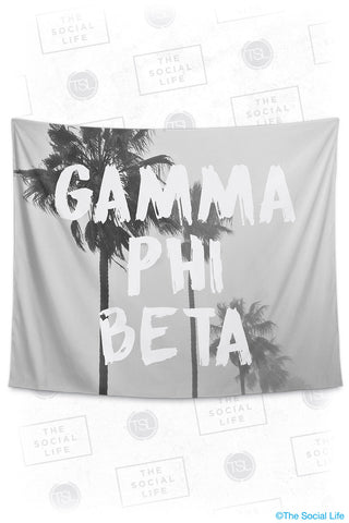 Gamma Phi Beta Palm Mist Tapestry
