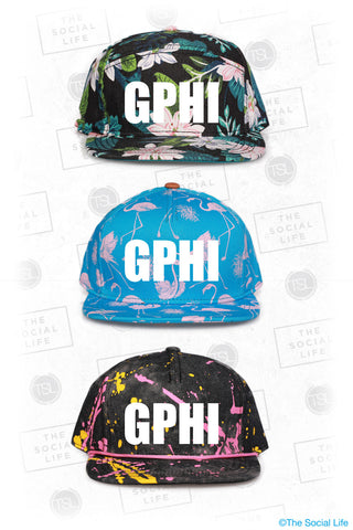 Gamma Phi Beta Custom Pattern Snapback