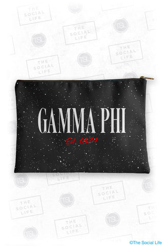 Gamma Phi Beta Speckle Cosmetic Bag