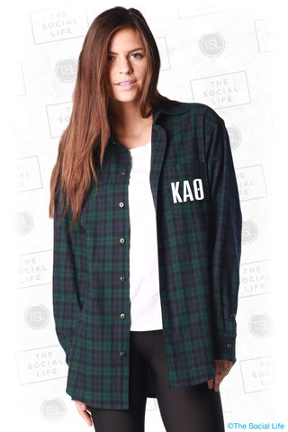 Kappa Alpha Theta Pocket Print Flannel