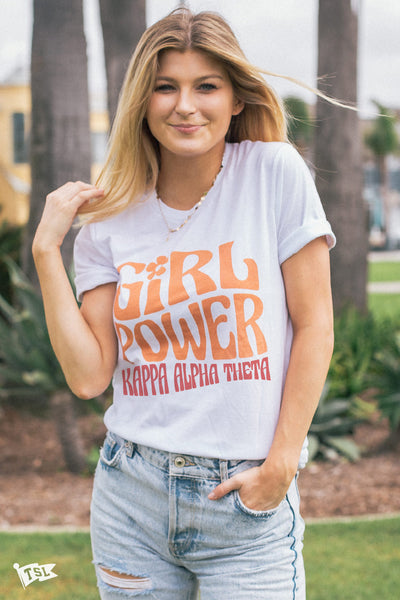 Kappa Alpha Theta Groovy Girl Power Tee