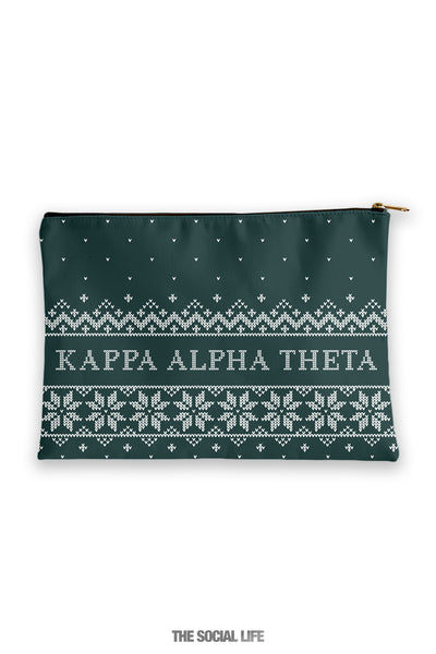 Kappa Alpha Theta Holiday Cosmetic Bag