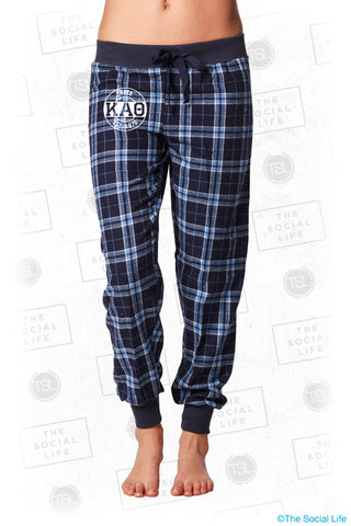 Kappa Alpha Theta Plaid Lounge Jogger