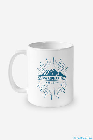 Kappa Alpha Theta Mountain Mug