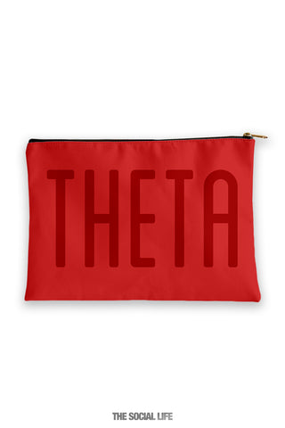 Kappa Alpha Theta Primary Cosmetic Pouch