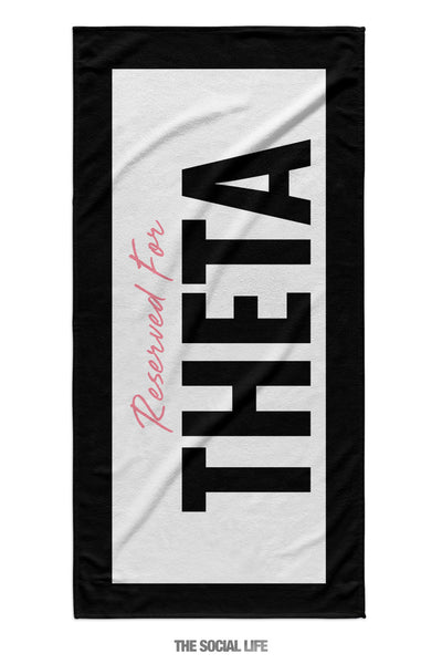 Kappa Alpha Theta Reserved Towel