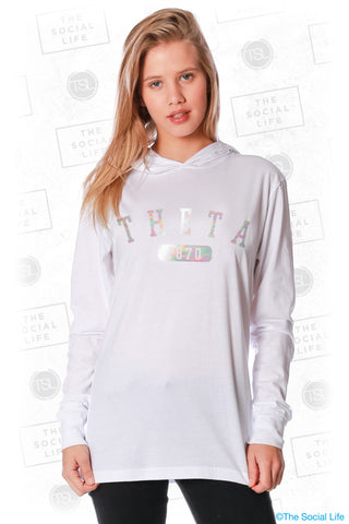 Kappa Alpha Theta Sporty Foil Top