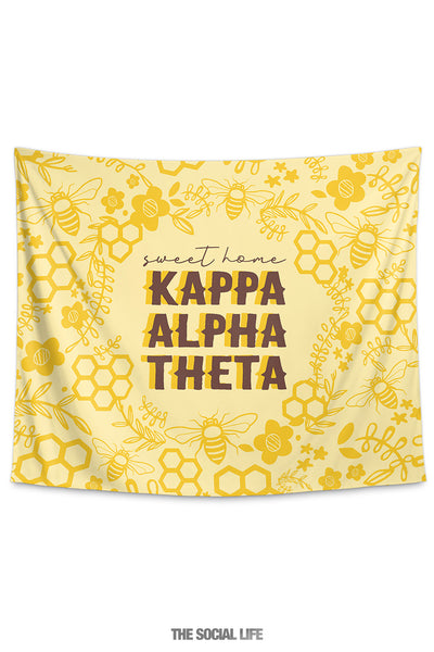 Kappa Alpha Theta Sweet Home Tapestry