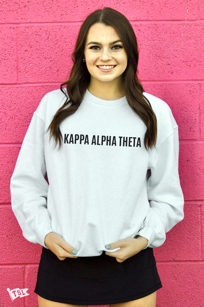 Kappa Alpha Theta Warped Crewneck