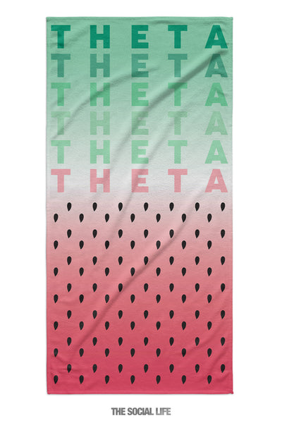 Kappa Alpha Theta Watermelon Towel