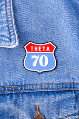 Kappa Alpha Theta Route 70 Peel-n-Stick Badge