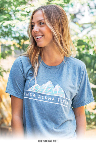 Kappa Alpha Theta Snow Capped Tri Blend Tee