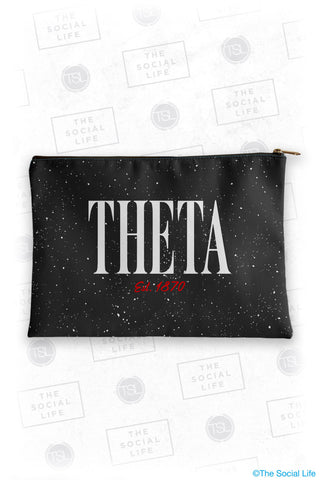 Kappa Alpha Theta Speckle Cosmetic Bag