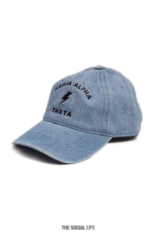 Kappa Alpha Theta Denim Striker Hat