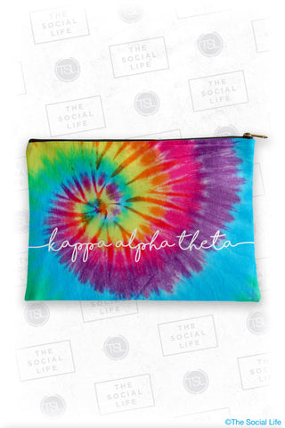 Kappa Alpha Theta Tie Dye Cosmetic Bag