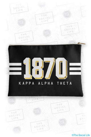 Kappa Alpha Theta Varsity Cosmetic Bag