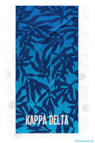 Kappa Delta Sea Leaf Beach Towel