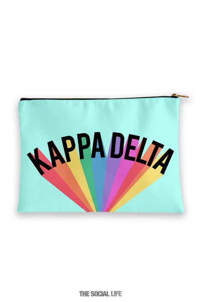Kappa Delta Colorblast Cosmetic Bag