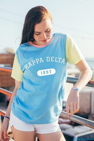 Kappa Delta Color Block Tee