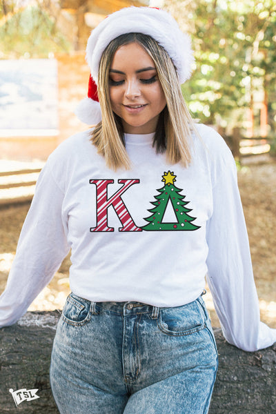 Kappa Delta Holiday Letter Long Sleeve
