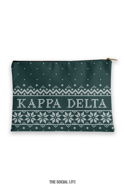 Kappa Delta Holiday Cosmetic Bag