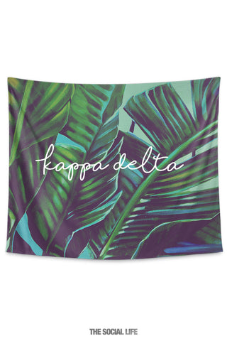 Kappa Delta Painted Palms Tapestry