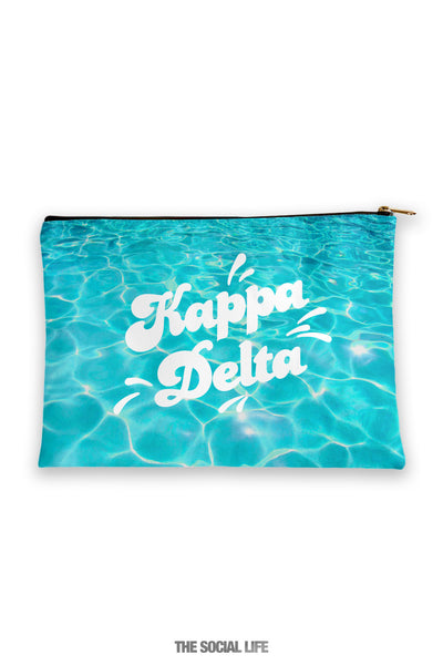 Kappa Delta Pool Water Cosmetic Bag
