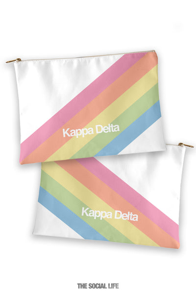 Kappa Delta Prism Cosmetic Bag