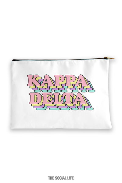 Kappa Delta Retro Cosmetic Bag